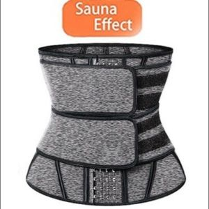 Gray Sauna Sweat Sporty Girdles Body Shaper